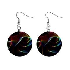 Imagine, Through The Abstract Rainbow Veil Mini Button Earrings by DianeClancy