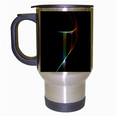 Imagine, Through The Abstract Rainbow Veil Travel Mug (silver Gray) by DianeClancy