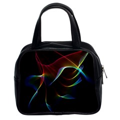 Imagine, Through The Abstract Rainbow Veil Classic Handbag (two Sides) by DianeClancy