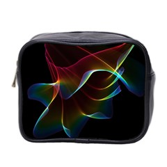 Imagine, Through The Abstract Rainbow Veil Mini Travel Toiletry Bag (Two Sides)