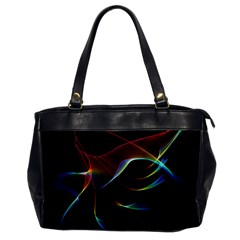 Imagine, Through The Abstract Rainbow Veil Oversize Office Handbag (one Side) by DianeClancy