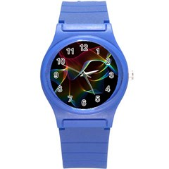 Imagine, Through The Abstract Rainbow Veil Plastic Sport Watch (small) by DianeClancy