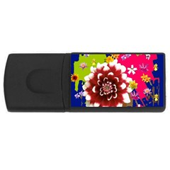 Flower Bunch 1GB USB Flash Drive (Rectangle) by Rbrendes