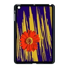 Red Flower Apple Ipad Mini Case (black) by Rbrendes