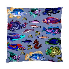 Fishy Cushion Case (Two Sided)  by Rbrendes