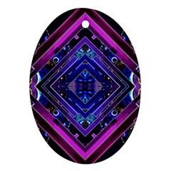 Galaxy Oval Ornament