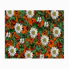 Flowers Glasses Cloth (small, Two Sided) by Rbrendes