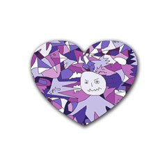 Fms Confusion Drink Coasters (heart) by FunWithFibro