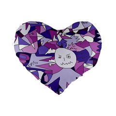 Fms Confusion 16  Premium Heart Shape Cushion  by FunWithFibro