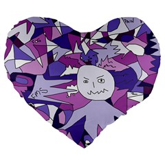 Fms Confusion 19  Premium Heart Shape Cushion by FunWithFibro