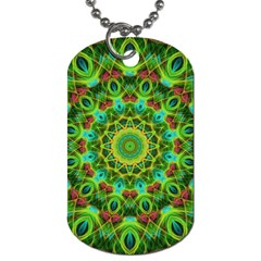 Peacock Feathers Mandala Dog Tag (One Sided) by Zandiepants