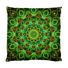 Peacock Feathers Mandala Cushion Case (two Sided)  by Zandiepants
