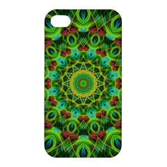 Peacock Feathers Mandala Apple Iphone 4/4s Hardshell Case by Zandiepants