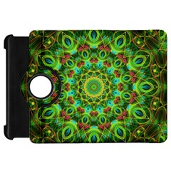 Peacock Feathers Mandala Kindle Fire Hd 7  (1st Gen) Flip 360 Case by Zandiepants