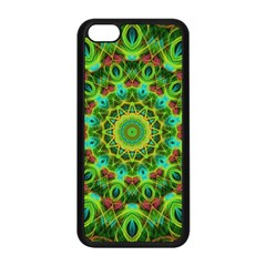 Peacock Feathers Mandala Apple Iphone 5c Seamless Case (black) by Zandiepants
