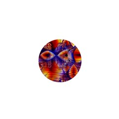 Winter Crystal Palace, Abstract Cosmic Dream 1  Mini Button by DianeClancy