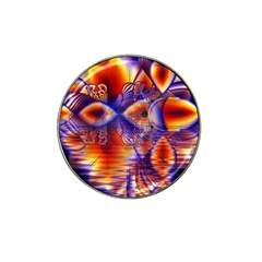 Winter Crystal Palace, Abstract Cosmic Dream Hat Clip Ball Marker (4 Pack)