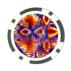 Winter Crystal Palace, Abstract Cosmic Dream Poker Chip Card Guard (10 Pack) by DianeClancy