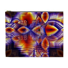 Winter Crystal Palace, Abstract Cosmic Dream Cosmetic Bag (xl) by DianeClancy