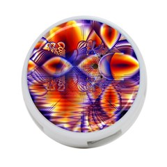 Winter Crystal Palace, Abstract Cosmic Dream 4 Port Usb Hub (one Side) by DianeClancy