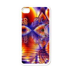 Winter Crystal Palace, Abstract Cosmic Dream Apple Iphone 4 Case (white) by DianeClancy
