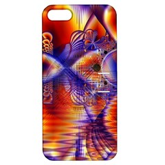 Winter Crystal Palace, Abstract Cosmic Dream Apple Iphone 5 Hardshell Case With Stand by DianeClancy