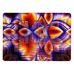 Winter Crystal Palace, Abstract Cosmic Dream Samsung Galaxy Tab 10 1  P7500 Flip Case by DianeClancy