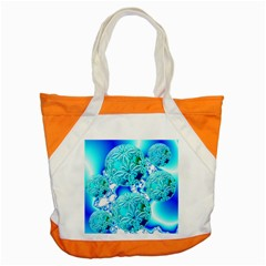 Blue Ice Crystals, Abstract Aqua Azure Cyan Accent Tote Bag by DianeClancy