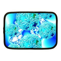 Blue Ice Crystals, Abstract Aqua Azure Cyan Netbook Case (medium) by DianeClancy