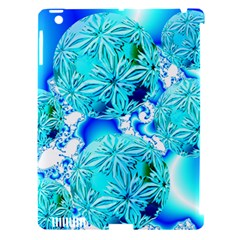 Blue Ice Crystals, Abstract Aqua Azure Cyan Apple Ipad 3/4 Hardshell Case (compatible With Smart Cover) by DianeClancy