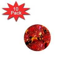 Flame Delights, Abstract Red Orange 1  Mini Button Magnet (10 Pack) by DianeClancy
