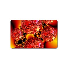 Flame Delights, Abstract Red Orange Magnet (Name Card) by DianeClancy