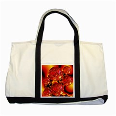 Flame Delights, Abstract Red Orange Two Toned Tote Bag by DianeClancy