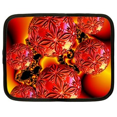 Flame Delights, Abstract Red Orange Netbook Sleeve (large) by DianeClancy