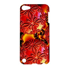 Flame Delights, Abstract Red Orange Apple Ipod Touch 5 Hardshell Case by DianeClancy