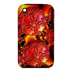 Flame Delights, Abstract Red Orange Apple Iphone 3g/3gs Hardshell Case (pc+silicone) by DianeClancy