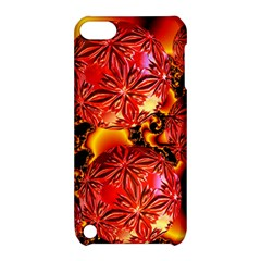 Flame Delights, Abstract Red Orange Apple Ipod Touch 5 Hardshell Case With Stand by DianeClancy