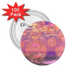 Glorious Skies, Abstract Pink And Yellow Dream 2 25  Button (100 Pack) by DianeClancy