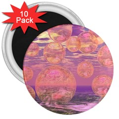 Glorious Skies, Abstract Pink And Yellow Dream 3  Button Magnet (10 Pack) by DianeClancy