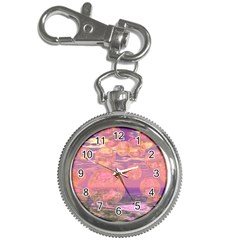 Glorious Skies, Abstract Pink And Yellow Dream Key Chain Watch by DianeClancy