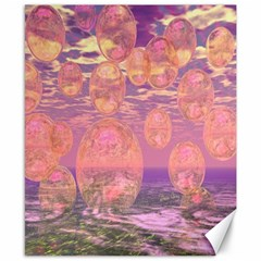 Glorious Skies, Abstract Pink And Yellow Dream Canvas 8  X 10  (unframed) by DianeClancy