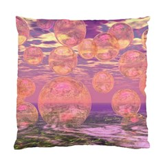 Glorious Skies, Abstract Pink And Yellow Dream Cushion Case (two Sided)  by DianeClancy