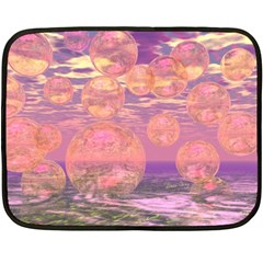 Glorious Skies, Abstract Pink And Yellow Dream Mini Fleece Blanket (two Sided) by DianeClancy