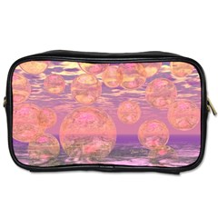 Glorious Skies, Abstract Pink And Yellow Dream Travel Toiletry Bag (one Side) by DianeClancy