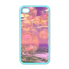 Glorious Skies, Abstract Pink And Yellow Dream Apple Iphone 4 Case (color) by DianeClancy