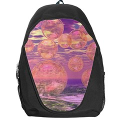 Glorious Skies, Abstract Pink And Yellow Dream Backpack Bag by DianeClancy