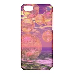 Glorious Skies, Abstract Pink And Yellow Dream Apple Iphone 5c Hardshell Case by DianeClancy