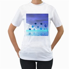 Moonlight Wonder, Abstract Journey To The Unknown Women s Two-sided T-shirt (White)