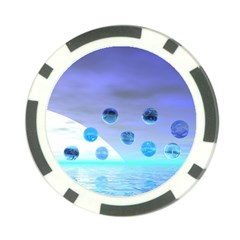 Moonlight Wonder, Abstract Journey To The Unknown Poker Chip (10 Pack) by DianeClancy