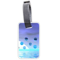 Moonlight Wonder, Abstract Journey To The Unknown Luggage Tag (Two Sides) by DianeClancy
